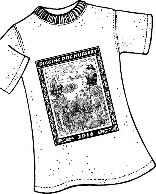 2016 digging dog t-shirt